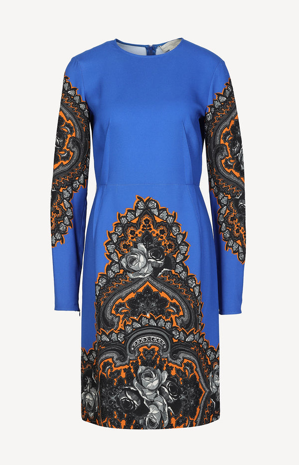 Dress with print in black / orange