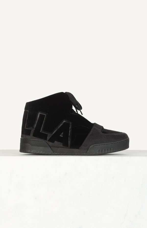 Stella sneakers in black velvet