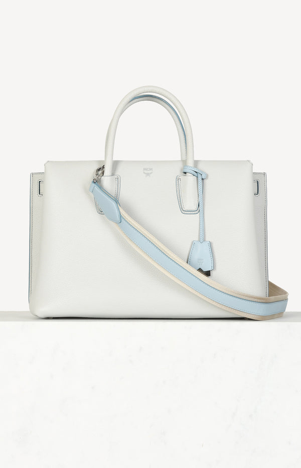 Milla Tote bag in gray / light blue
