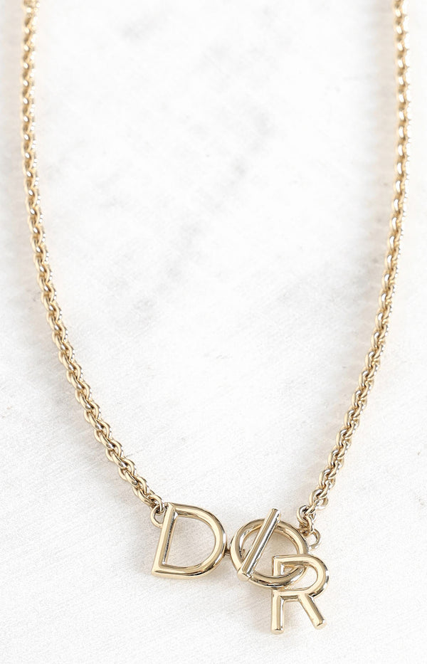 Logo Kette in Gold