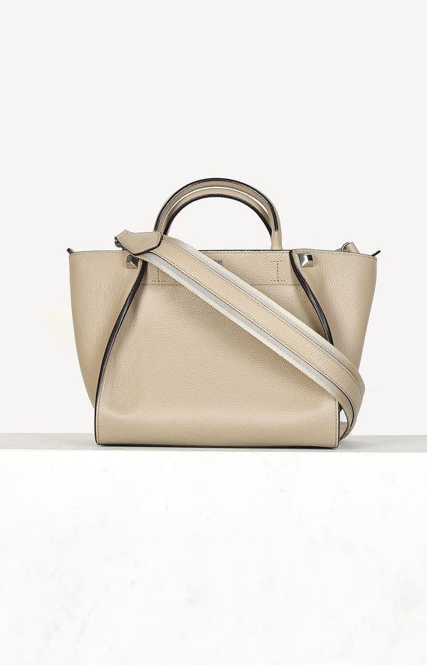 Crossbody bag in taupe