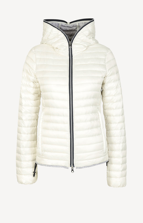 Down jacket in cream