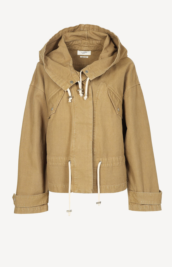 Oversized Jacke in Khaki