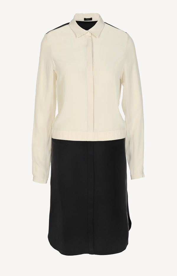 Blouse dress in black / beige