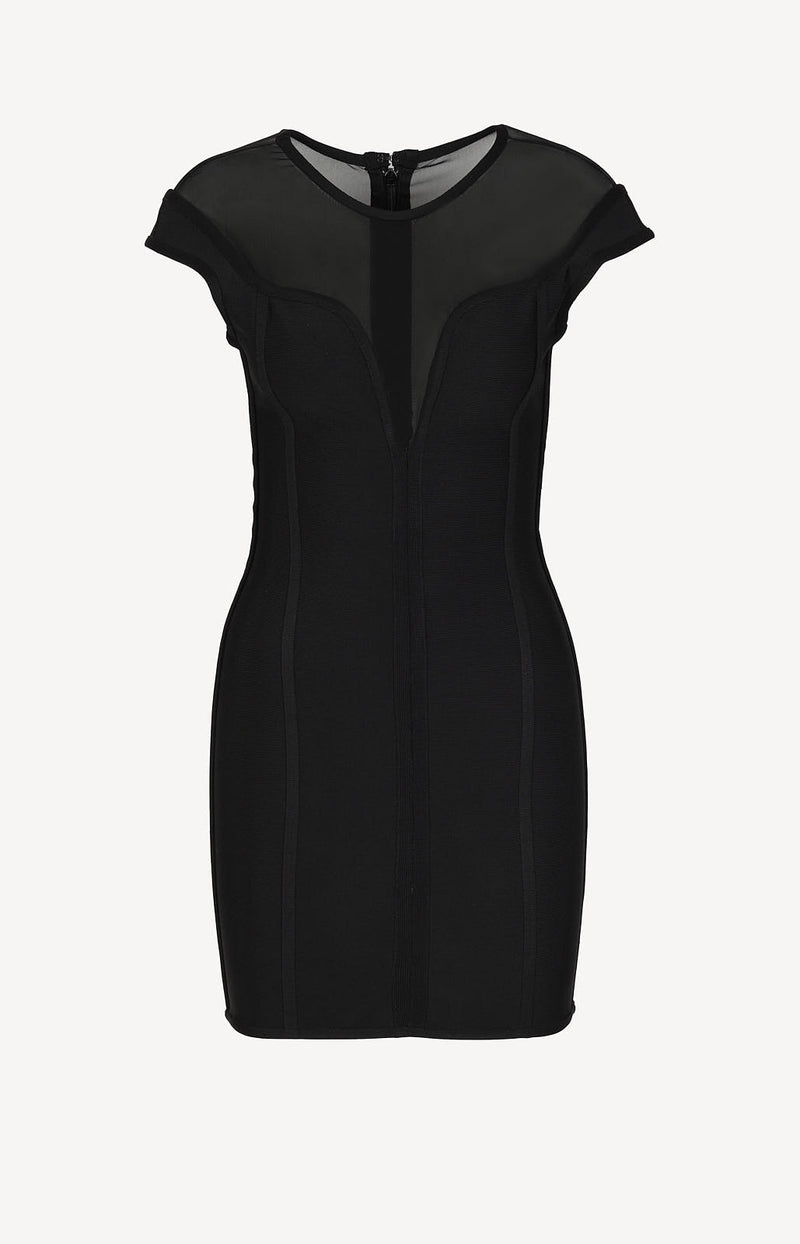 Figure-hugging dress in black