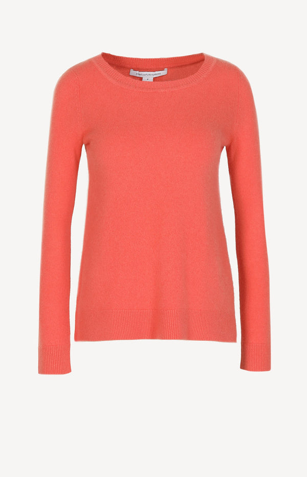 Cashmere sweater in orange
