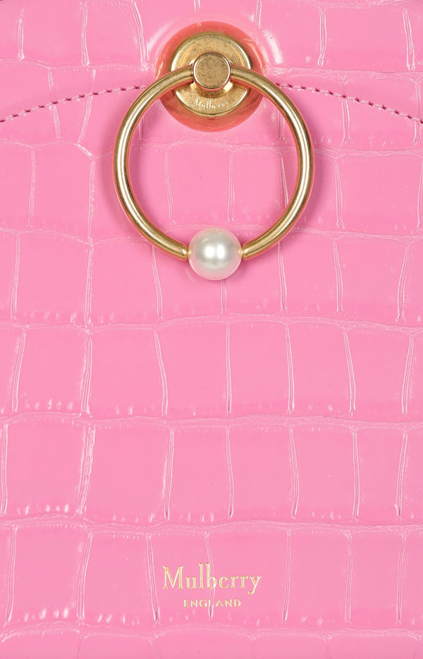 The Crescent Clutch in Raspberry Pink