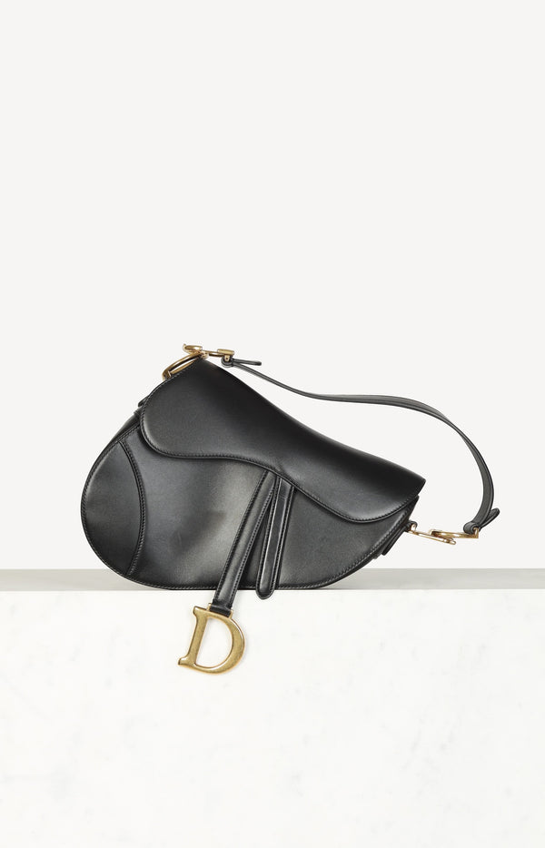 Tasche Saddle Bag in Schwarz/Gold