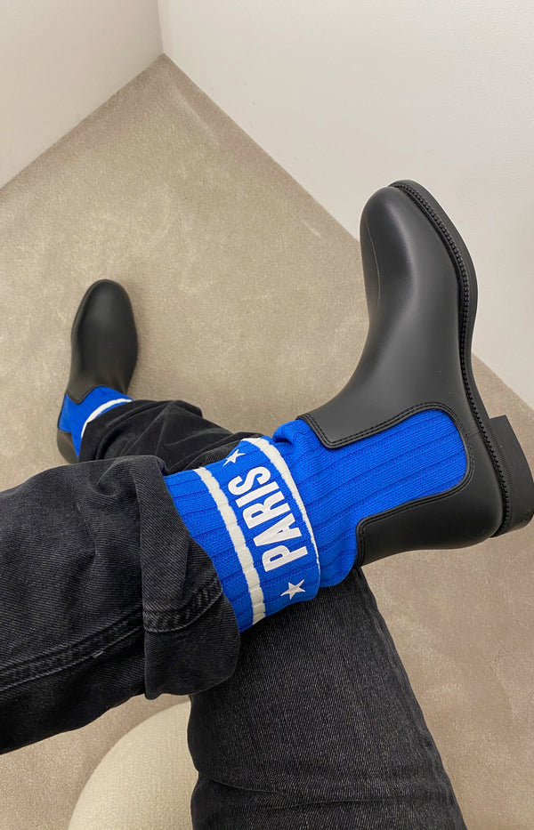 Storm Chelsea boots in black / blue