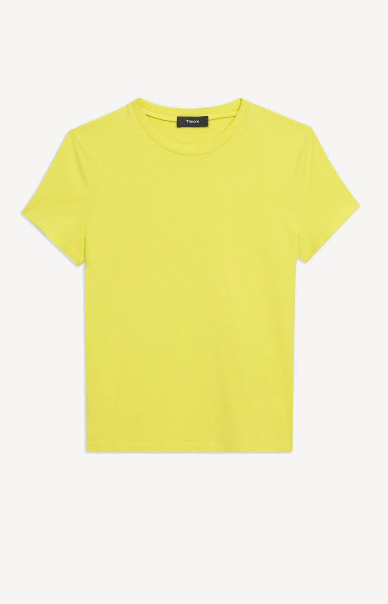T-Shirt Tiny Tee in Bright LimeTheory - Anita Hass