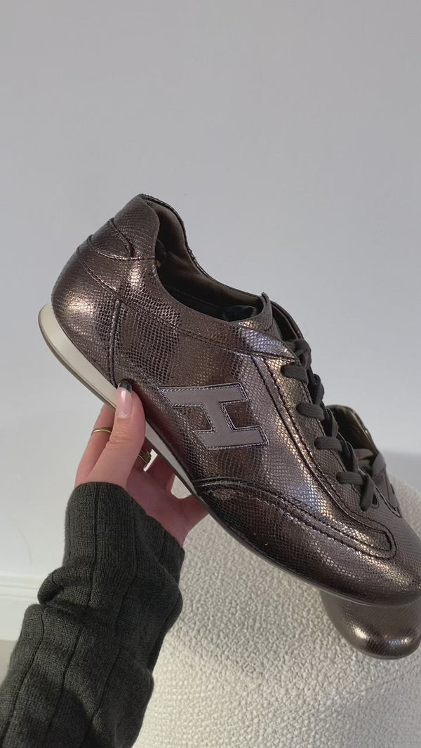 Olympia sneakers in brown / metallic