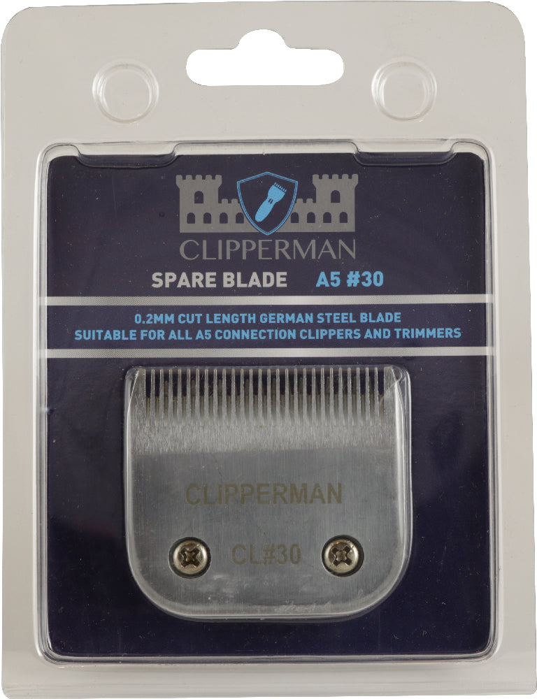 Clipperman A5 #30 German Steel Blade Set - Extra Fine