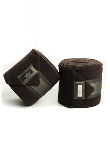 Equestrian Stockholm Premium Fleece Bandages - No Boundaries Olive