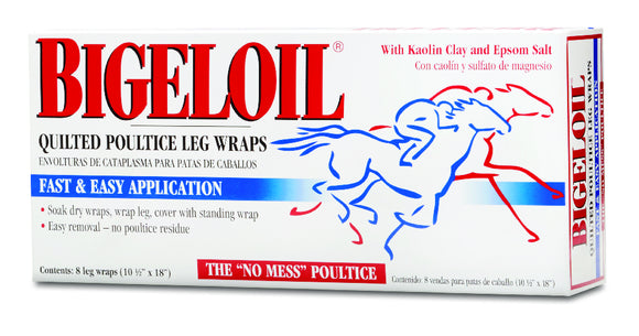Absorbine Bigeloil Quilted Poultice Leg Wrap - 8 Pack