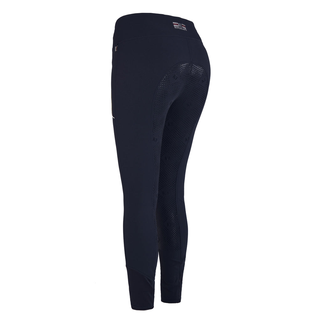 Kingsland Katja Ladies Pull On Full Grip Breeches - Navy