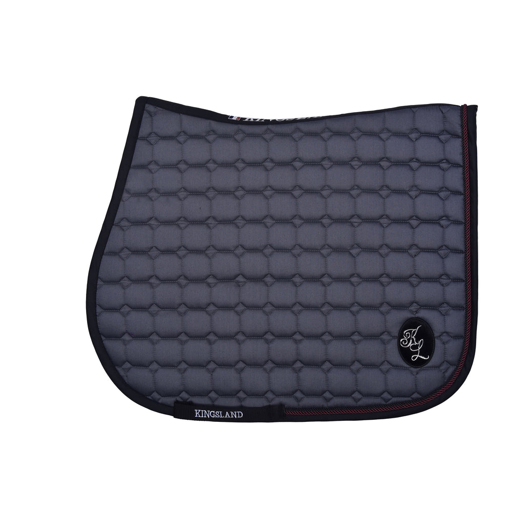 Kingsland Demi Saddlepad - Grey Pinstripe