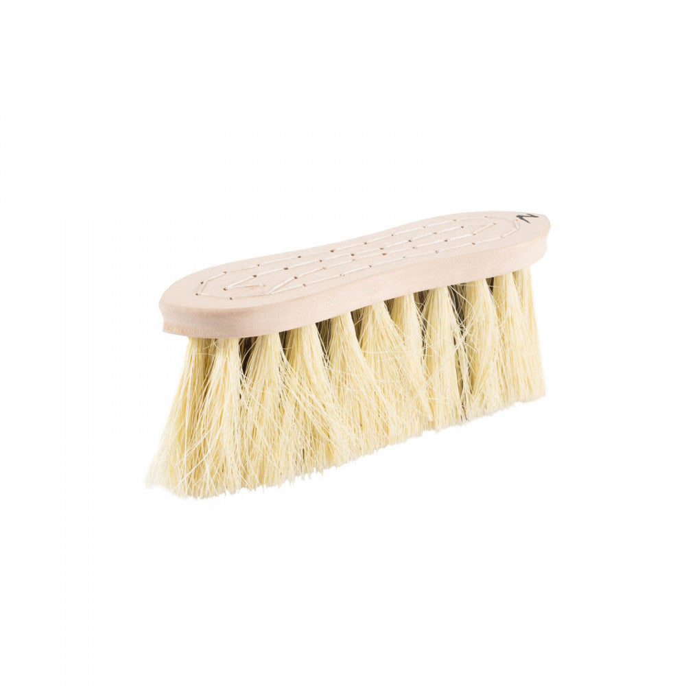 Horze Wood Back Firm Brush Withnatural Mix Bristles - 8Cm