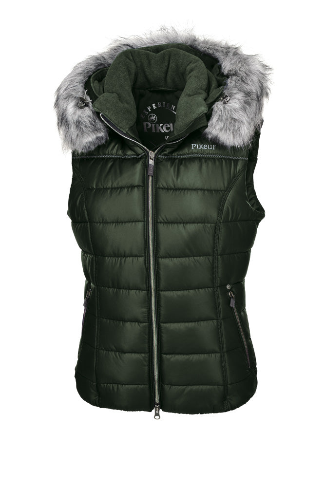 Pikeur Amica Ladies Padded Gilet - Pine Green