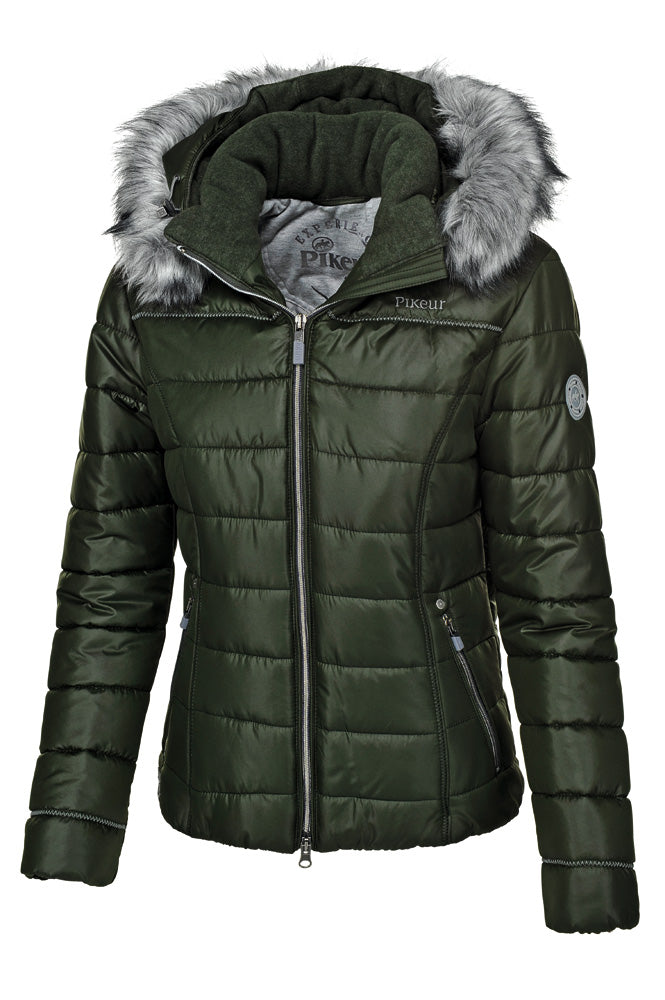 Pikeur Amal Ladies Padded Jacket - Pine Green