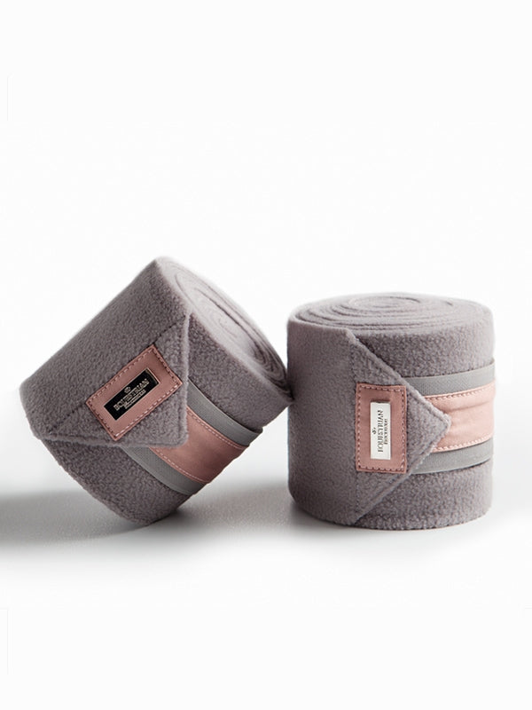Equestrian Stockholm Premium Fleece Bandages - Dusty Pink
