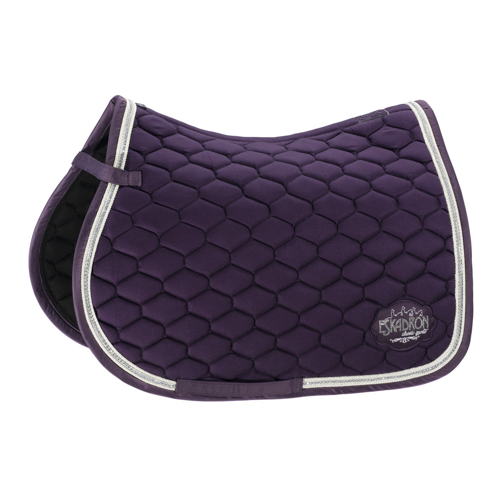 Eskadron AW18 Classic Sports Emblem Cotton Saddlepad - Plum