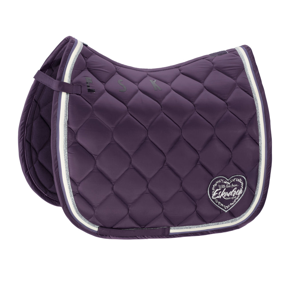 Eskadron AW18 Classic Sports Glossy Heart Saddlecloth - Plum