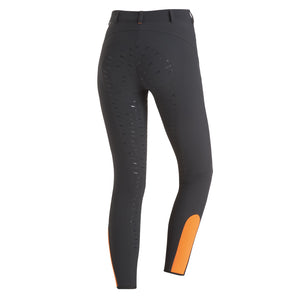 Schockemohle Electra Ladies Full Seat Breeches - Grey/Orange