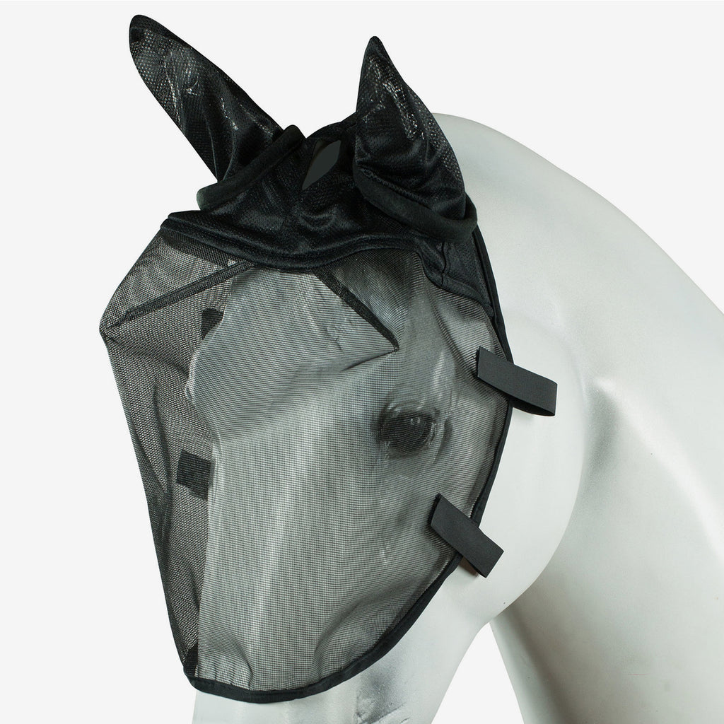 Horze Bridle Ride On Fly Mask - Black