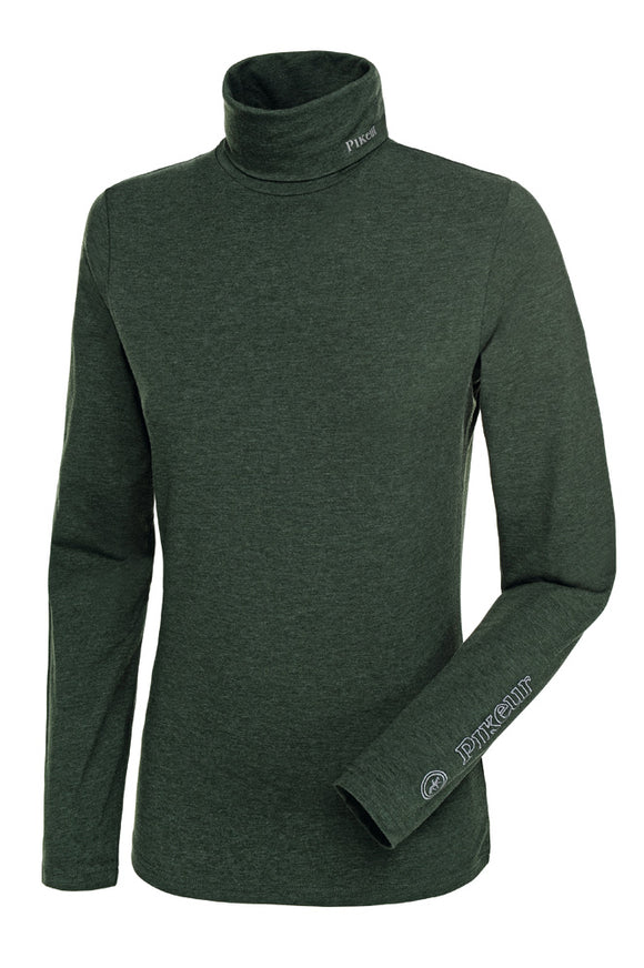 Pikeur SINA Rollneck Base Layer - Pine Green Melange