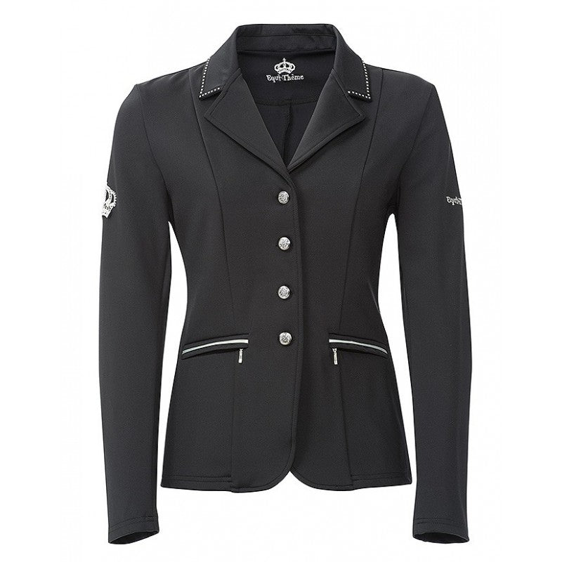 "Equi-Theme ""Soft Crystal"" Softshell Competition Jacket - Black"