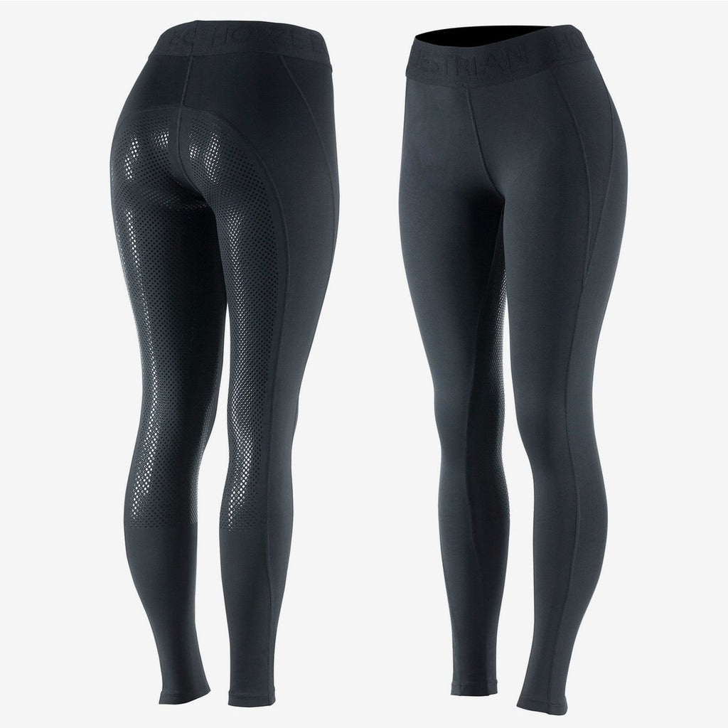 Horze Madison Women's Silicone Full Seat Tights - Black