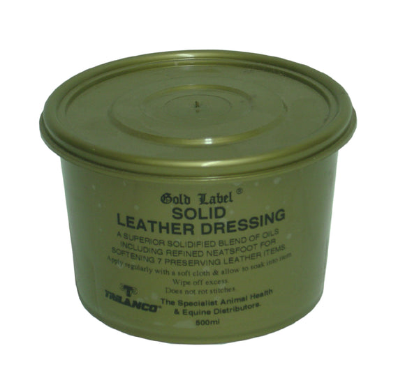 Gold Label Solid Leather Dressing - 500ml