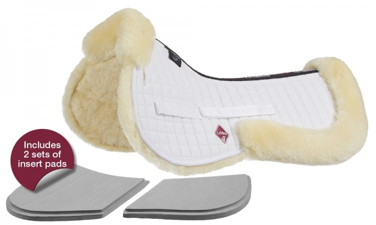 LeMieux Pro-Sorb System Lambskin Half Pad - Natural/White