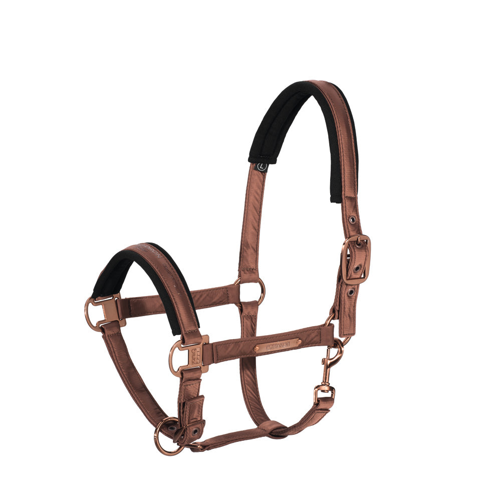 Eskadron Heritage Glossy Double Pin Headcollar and Lead Rope - Copper