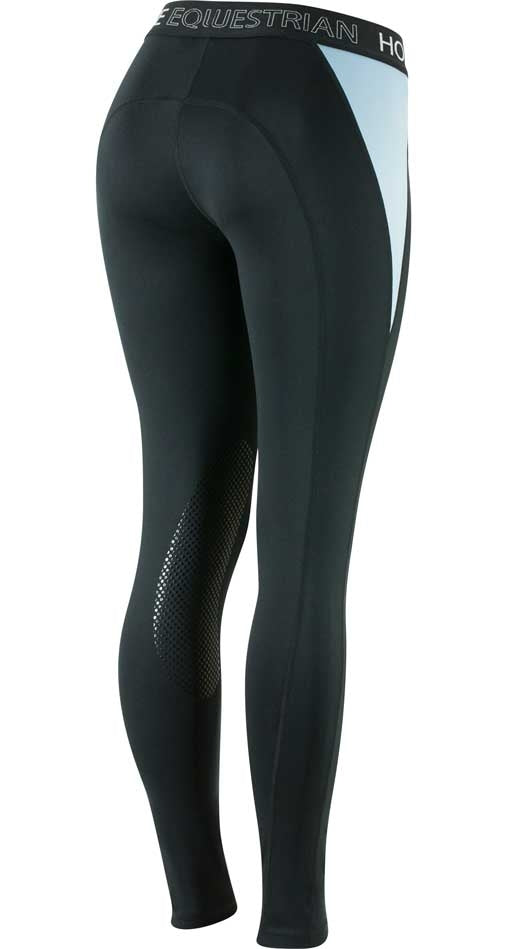 Horze Madison Silicone Knee Pull On Breeches - Deep Blue/Placid Blue