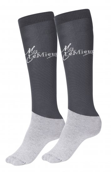 LeMieux Competition Sock Anthracite Set Of 2 3 Pack