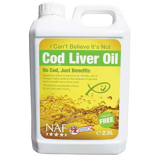 NAF I Can't Believe It's Not Cod Liver Oil - 2 Litre + 500ml FREE!