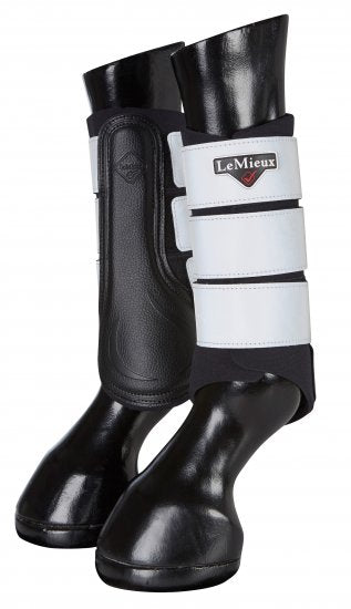 LeMieux Reflective Grafter Brushing Boots - Hi-Vis