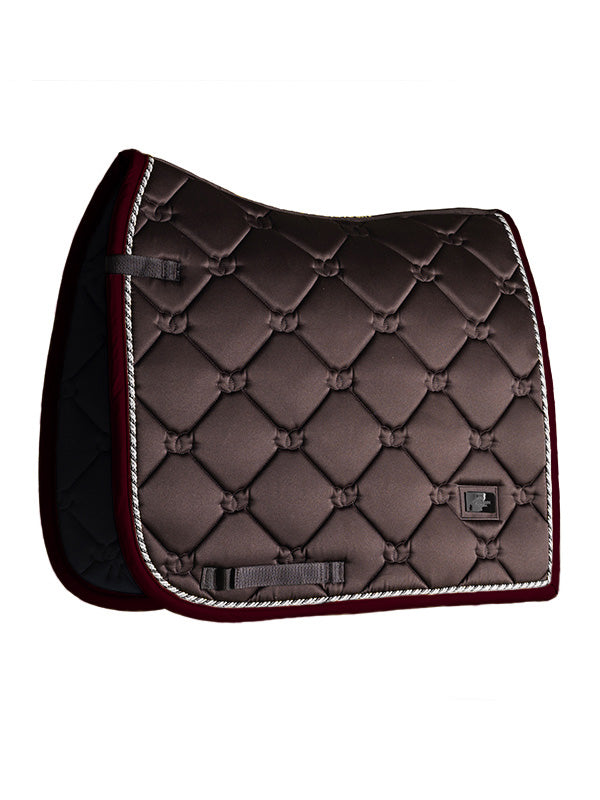 Equestrian Stockholm Premium Dressage Pad - Deep Brown