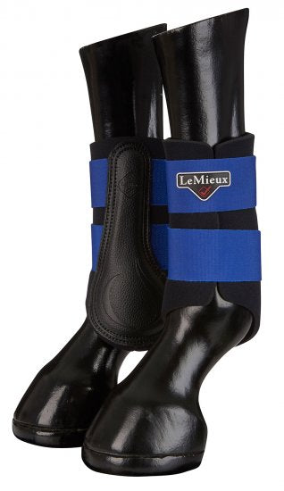 LeMieux Grafter Brushing Boots - Benetton Blue
