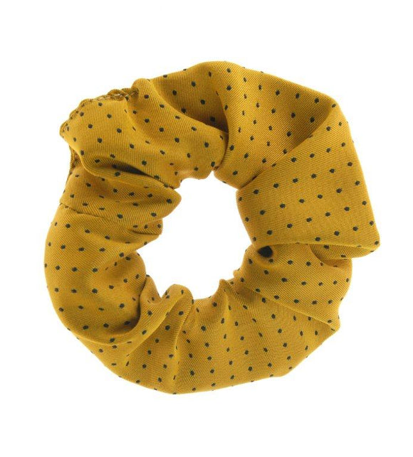 Show Quest Scrunchie Pin Spot - Sunshine Yellow/Navy