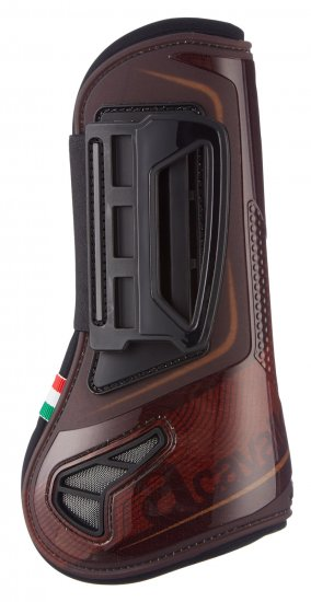 Acavallo Open Fronted Jumping Tendon Boots - Brown