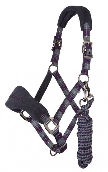 LeMieux Tartan Vogue Headcollar & Lead Rope - Purple