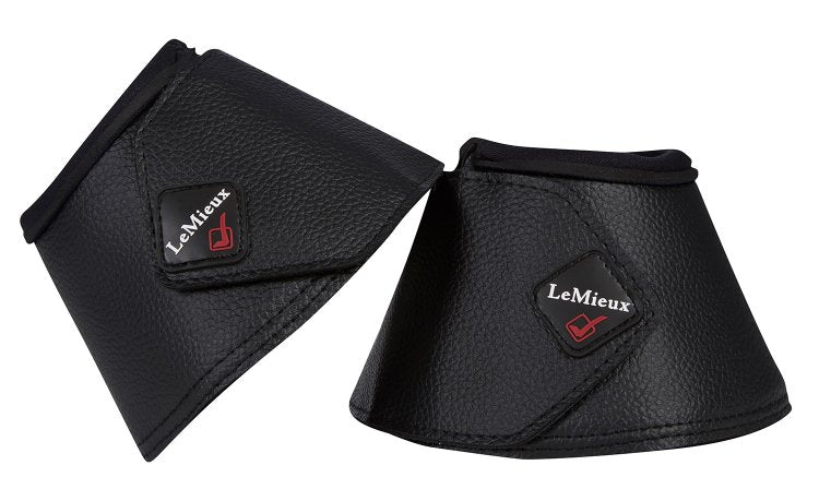LeMieux Wrapround Leather Over Reach Boots Black