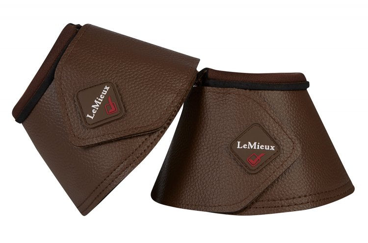 LeMieux Wrapround Leather Over Reach Boots Brown
