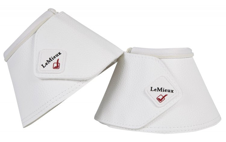LeMieux Wrapround Leather Over Reach Boots White