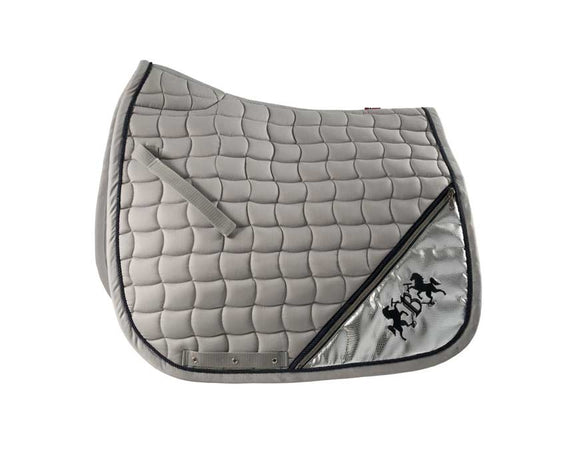BVertigo Lexington Dressage Saddlepad - Alloy Grey