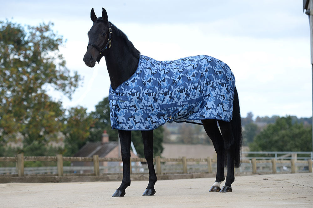 Bucas Freedom Twill Stable Sheet - Blue Camouflage