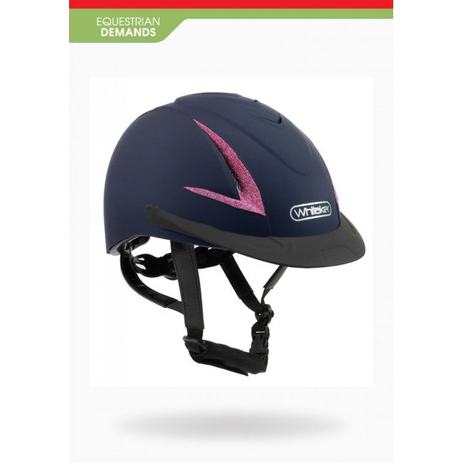 John Whitaker Childrens Limited Edition Pink Sparkle Nrg Helmet Pony Club Approved