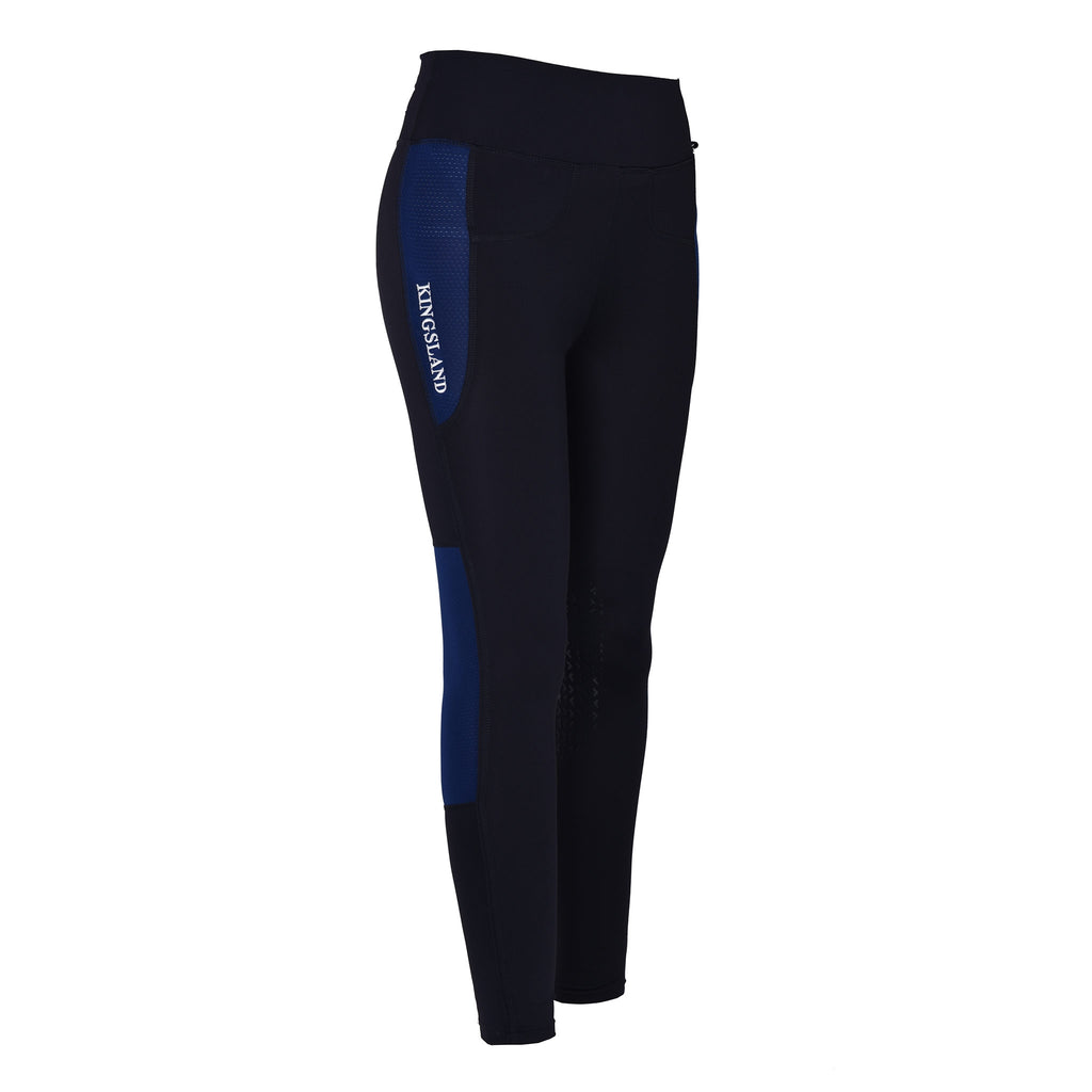 Karina F-Tec Knee Grip Compression Riding Tights - Blue Depths